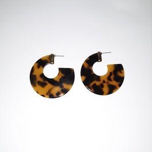 Tortoise Shell print Earrings
